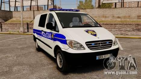 Mercedes-Benz Vito Croatian Police v2.0 [ELS] for GTA 4