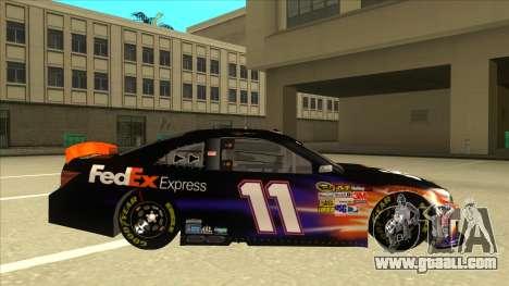Toyota Camry NASCAR No. 11 FedEx Express for GTA San Andreas back left view