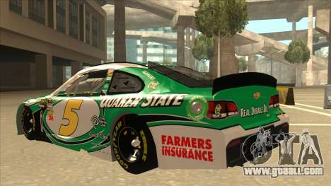 Chevrolet SS NASCAR No. 5 Quaker State for GTA San Andreas back view