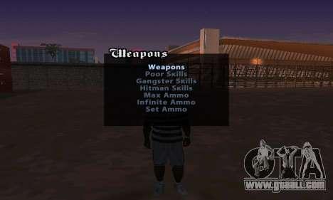 Cheat Menu for GTA San Andreas second screenshot