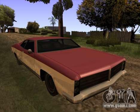 Buccaneer for GTA San Andreas