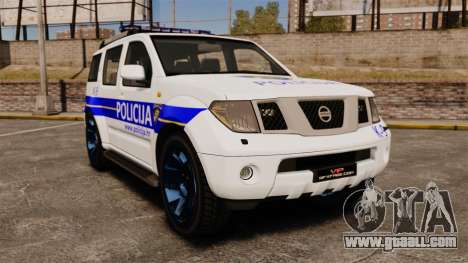 Nissan Pathfinder Croatian Police [ELS] for GTA 4