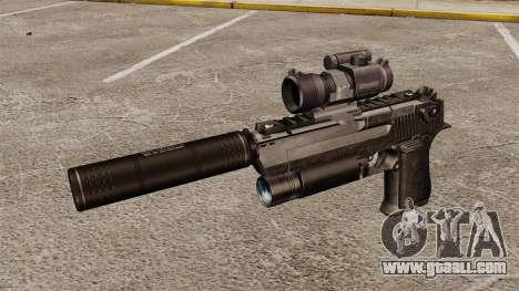 Desert Eagle pistol (tactical) for GTA 4 third screenshot