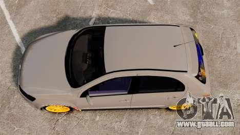 Volkswagen Gol G6 2013 Turbo Socado for GTA 4 right view