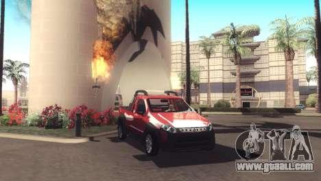 Fiat Strada Locker 2013 for GTA San Andreas inner view