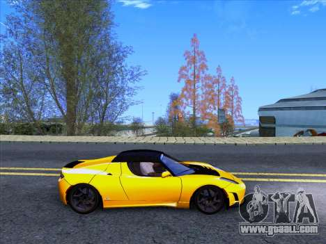 Tesla Roadster Sport 2011 for GTA San Andreas back view