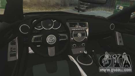 Mazda RX-8 R3 2011 Police for GTA 4 inner view