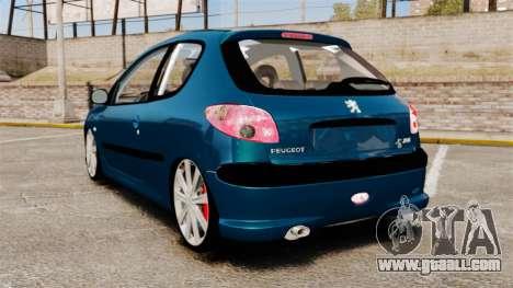 Peugeot 206 for GTA 4 back left view