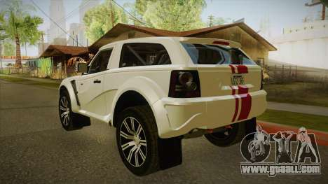 Bowler EXR S 2012 IVF + AD for GTA San Andreas right view