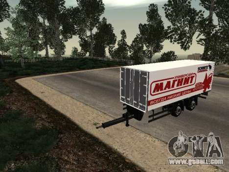 Trailer MAN Magnet for GTA San Andreas right view