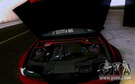 BMW M3 Cabrio for GTA San Andreas interior