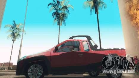 Fiat Strada Locker 2013 for GTA San Andreas back left view