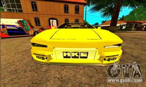 Infernus Cabrio Edition for GTA San Andreas back view