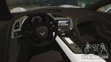 Chevrolet Corvette C7 Stingray 2014 for GTA 4 inner view