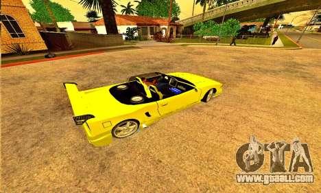 Infernus Cabrio Edition for GTA San Andreas left view