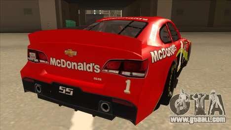 Chevrolet SS NASCAR No. 1 McDonalds for GTA San Andreas right view