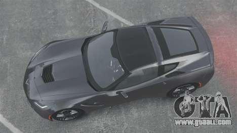 Chevrolet Corvette C7 Stingray 2014 for GTA 4 right view