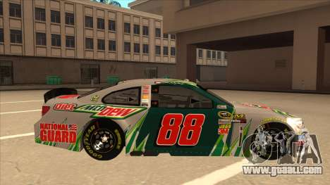 Chevrolet SS NASCAR No. 88 Diet Mountain Dew for GTA San Andreas back left view
