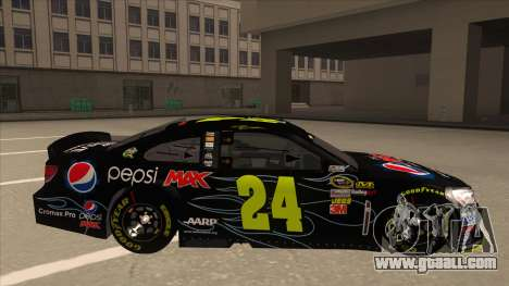Chevrolet SS NASCAR No. 24 Pepsi Max AARP for GTA San Andreas back left view