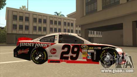 Chevrolet SS NASCAR No. 29 Jimmy Johns for GTA San Andreas back left view