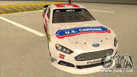 Ford Fusion NASCAR No. 32 U.S. Chrome for GTA San Andreas left view