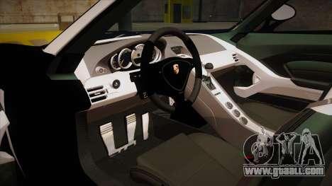 Porsche Carrera GT 2004 Police Black for GTA San Andreas inner view