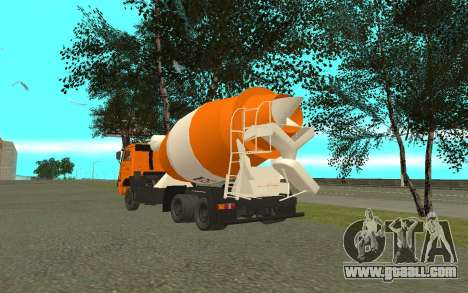 KAMAZ 6520 Cement for GTA San Andreas back left view