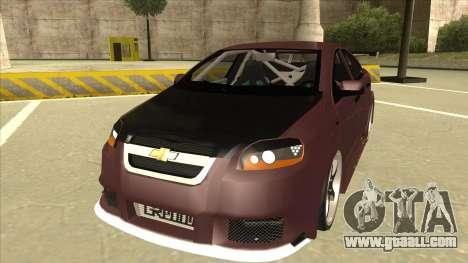 Chevrolet Aveo LT Tuning for GTA San Andreas