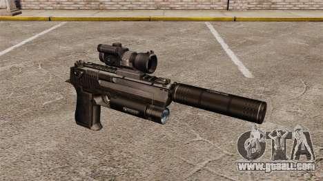 Desert Eagle pistol (tactical) for GTA 4