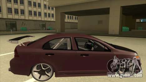 Chevrolet Aveo LT Tuning for GTA San Andreas back left view