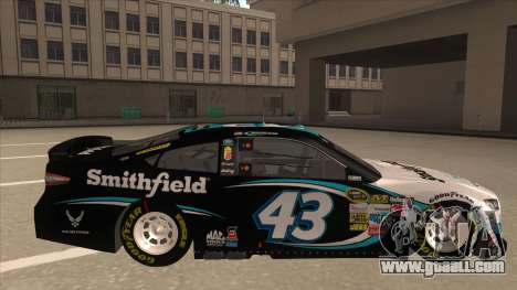 Ford Fusion NASCAR No. 43 Smithfield Foods for GTA San Andreas back left view