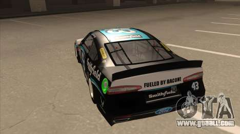 Ford Fusion NASCAR No. 43 Smithfield Foods for GTA San Andreas back view