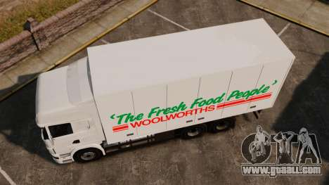 Scania R580 Tandem Woolworths for GTA 4 back left view