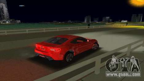 Subaru BRZ Type 1 for GTA Vice City inner view