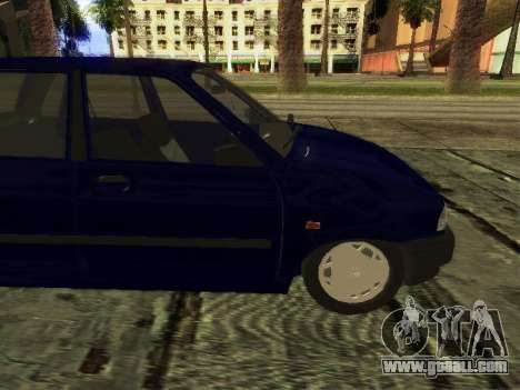 Kia Pride Hatchback for GTA San Andreas back left view