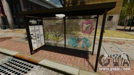 New advertising at bus stops for GTA 4