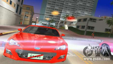 Subaru BRZ Type 1 for GTA Vice City back left view