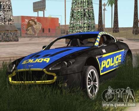 Aston Martin V12 Vantage Cop Edition for GTA San Andreas