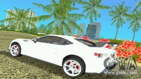 Subaru BRZ Type 4 for GTA Vice City right view