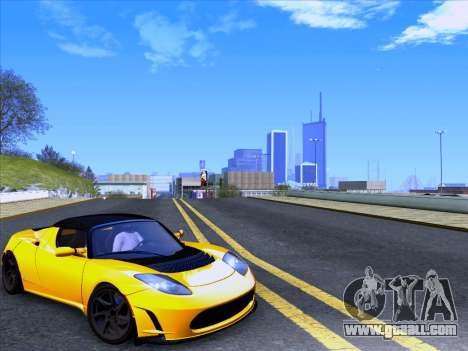 Tesla Roadster Sport 2011 for GTA San Andreas back left view