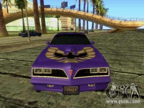 Pontiac Firebird Overhaulin for GTA San Andreas left view