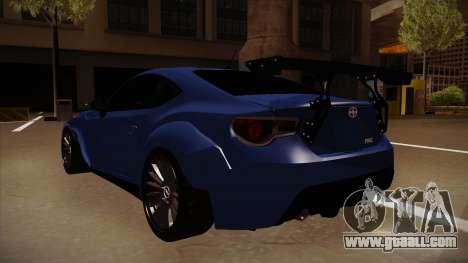 Scion FR-S Rocket Bunny for GTA San Andreas back view