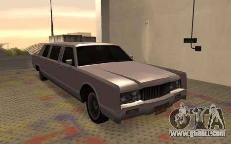 Limousine Driver Parallel Lines of for GTA San Andreas right view
