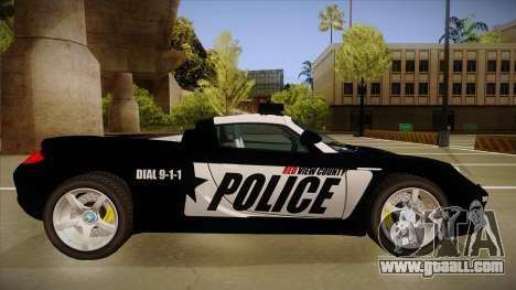 Porsche Carrera GT 2004 Police Black for GTA San Andreas back left view