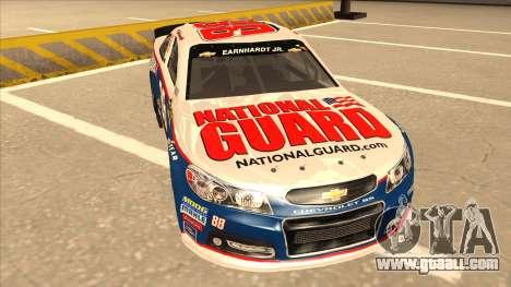 Chevrolet SS NASCAR No. 88 National Guard for GTA San Andreas left view