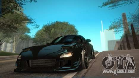 Mazda RX-7 STANCENATION for GTA San Andreas inner view