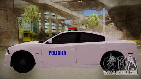 Dodge Charger SRT8 Policija for GTA San Andreas back left view