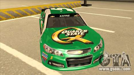 Chevrolet SS NASCAR No. 5 Quaker State for GTA San Andreas left view
