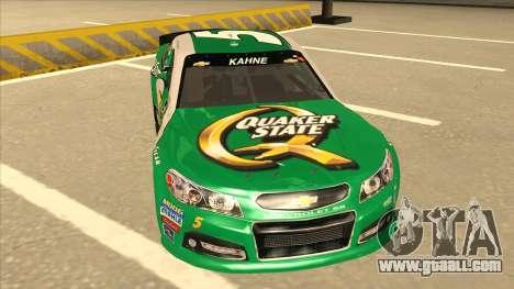 Chevrolet SS NASCAR No. 5 Quaker State for GTA San Andreas left view