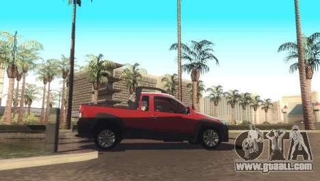 Fiat Strada Locker 2013 for GTA San Andreas back view
